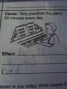 Mas não há nada mais divertido do que um aluno dando uma resposta engraçada em uma prova.