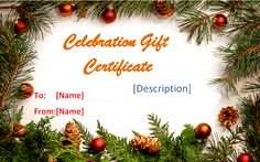 Holiday gift certificate templates by www.giftcertificatetemplates.net