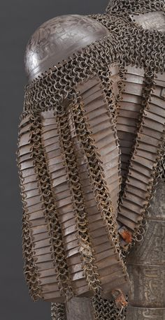 Concept Modeling For Metallic Sculpture : – Picture : – Description Shoulder cop on side of chest armor Iran century. Steel with silver inlay. Knight In Shining Armor, Knight Armor, Arm Armor, Body Armor, Medieval Armor, Fantasy Armor, Ottoman, Chain Mail, 17th Century