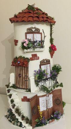 Tegole Tile Crafts, Clay Tiles, Roof Tiles, Gnome Garden, C Diy Crafts Slime, Dad Crafts, Tile Crafts, Hobbies And Crafts, Pottery Houses, Ceramic Houses, Clay Houses, Dolls House Shop, Clay Wall Art
