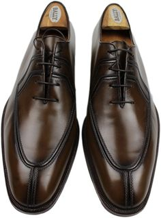 TESTONI BROWN SPLIT TOE LACE UP-9M-MADE IN ITALY #TESTONI #LACEUP