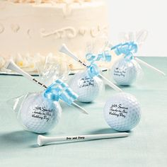 Golf Ball Favors - OrientalTrading.com  Cute idea... Could do his & hers favors?