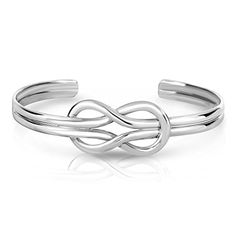 Cape Cod Nautical Sailor's Love Knot Sterling Silver Cuff Bracelet -- Click on the image for additional details.