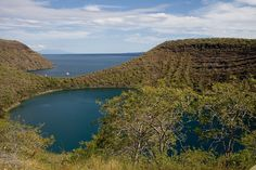 Darwin Lake in the Galápagos Islands - Photo by Dain Van Shoyck. Galapagos Islands, Darwin, Ecuador, Van, River, Outdoor, Outdoors, Outdoor Games, Vans