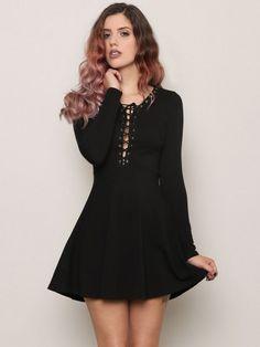 Lace Me Up Mini Dress - Gypsy Warrior
