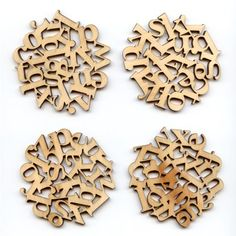 Laser cut wooden coasters
