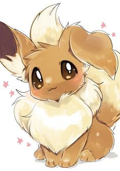 at this adorable Eevee 3 3 i know this is not anime not kawaii but this too cute so i had to put it in this board Eevee Pokemon, Eevee Evolutions, Pokemon Fan Art, All Pokemon, Pokemon Cards, Cute Animal Drawings, Kawaii Drawings, Cute Drawings, Drawing Animals