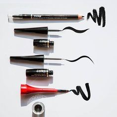 Cada #delineador tiene un acabado distinto para resaltar nuestra mirada. ¿Con cuál empezarás tu semana? #maquillaje #belleza #look #esika
