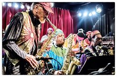 Marshall Allen and the Sun Ra Arkestra  Image by Frank Schindelbeck #jazz #SunRA