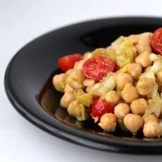 Garbanzo Bean Salad. Personally I also like to add cucumber and either a cup of white beans or kidney beans for more mixture in textures and colour.