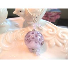 Necklace glass pendant petal bead in pale purples lampwork, purple... (€34) ❤ liked on Polyvore featuring jewelry, necklaces, beaded necklaces, swarovski crystal pendant necklace, purple pendant necklace, opal bead necklace and beaded chain necklace