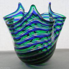 Mind Blowing MURANO Magnificent MEZZA FILIGRANA Glass VASE Exquisite FAZZOLETTO