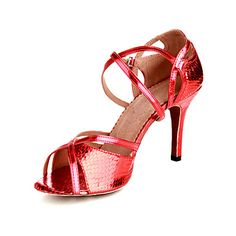 Customized Women's Leatherette Ankle Strap Latin / Ballroom Dance Shoes With Buckle (More Colors)