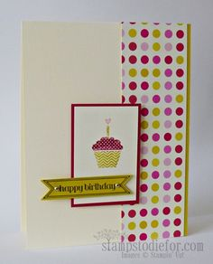 Stampin' Up! Summer Starfruit - I am in love! Hand stamped Birthday Card