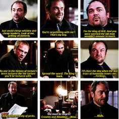[gifset] 9x21 King Of The Damned #SPN  #Crowley