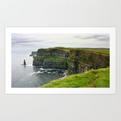 Cliffs of Moher Art Print by Kim Ramage - $16.64