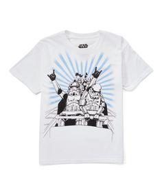 White & Blue Stormtrooper Tee - Boys