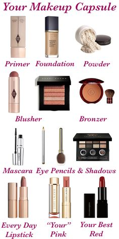 Makeup capsule wardrobe the perfect colours and products to suit your colouring