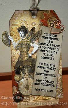 Sharon's Showcase: Tim Holtz 12 Tags of Love this quote! Atc Cards, Card Tags, I Card, Gift Tags, Greeting Cards, Altered Books, Fun Crafts, Paper Crafts, Tags