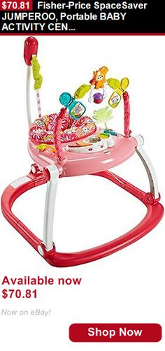 Baby jumping exercisers: Fisher-Price Spacesaver Jumperoo, Portable Baby Activity Center, Floral Confetti BUY IT NOW ONLY: $70.81