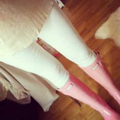 pink hunter boots I want them sooooooooooo bad!!!!!!