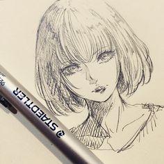 休憩〜5分で描こう!としてたら8分かかった #8min #doodle #illustration #drawing #doodle #otaku #イラスト #絵 #落書き #アナログ