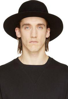 Robert Geller Black Wool Dominik Hat