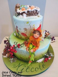 New born in Fairyland - Cake by SweetMamaMilano