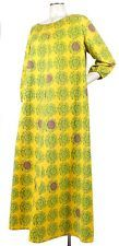 Vintage 1960s MARIMEKKO Maxi Dress Tent Dress Yellow Pink Green MARUNA L XL