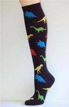 Dinosaur Knee High Socks - Purple - might need these ...