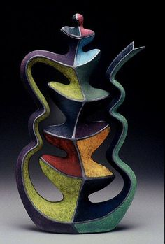 Abstract Pottery Pitcher
