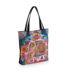 Elephant Shoulder bag paisley pink Mandalay zip up-large beach-shopper-Weekend Elephant Design, Jewellery Uk, Mandalay, Amber Jewelry, Blue Tones, Cool Things To Buy, Stuff To Buy, Pink Blue, Zip Ups