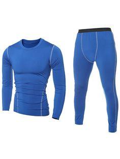 Elastic Solid Mens Sports T Shirts And Pants Complet 85ec170c2