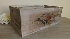 FRENCH VINTAGE STYLE WOODEN STORAGE BOX, SHABBY CHIC 3 SIZES, RUSTIC FRENCH CHIC   Available from http://stores.ebay.co.uk/Dolly-Daydream-Boutique https://www.facebook.com/maisonroyale.co.uk