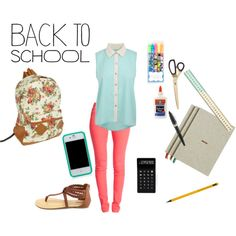 """back to school"" by hanna-apperson on Polyvore"