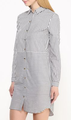 Warehouse stripe shirt dress
