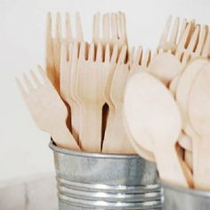 Simply adore this wooden cutlery set from Paper Eskimo. Environmentally friendly disposable and stylish!