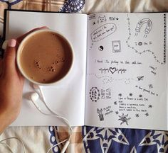 Sometimes all you want to do is drink coffee, listen to music, and doodle or sketch.