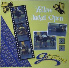Yellow Jacket Open Wrestling Layout - Scrapbook.com