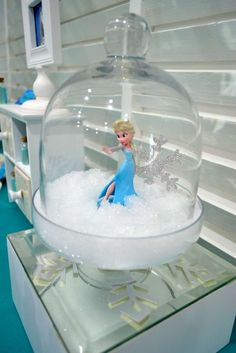 Elsa Decorations at a Frozen Birthday Party