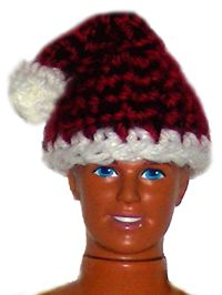 Santa Claus Hat (Barbie Doll Size) - free crochet pattern
