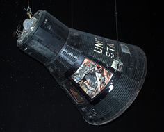"""50 Years Ago Today, on May 15, 1963, astronaut L. Gordon Cooper launched on the last mission of the Mercury program (MA-9) in this """"Faith 7"""" capsule. Ap World History, Today In History, Project Mercury, Nasa Space Program, Apollo Program, Space Toys, Air And Space Museum, Space Race, Lost In Space"""