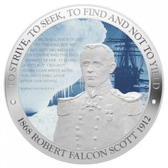 Robert Falcon Scott One Ounce Silver Coin - New Zealand Mint
