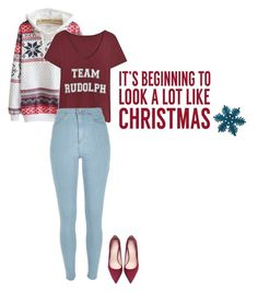 """It's beginning to look a lot like Christmas!"" by thatdesign ❤ liked on Polyvore featuring River Island, Zara and Sixtrees"