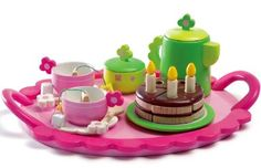 Amazon.com: Djeco Wooden Birthday Tea Party Set: Toys & Games