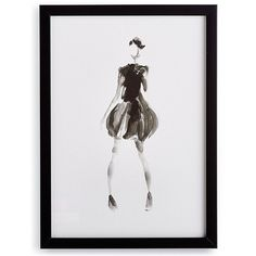 Pret-A-Porter Print X ($169) ❤ liked on Polyvore featuring home, home decor, wall art, frontgate, inspirational home decor, inspirational wall art, motivational wall art and black white wall art