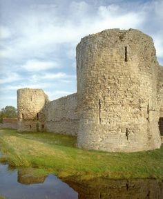 Pevensey Castle, in East Sussex along the coastline of England.  (Purportedly the oldest castle in Britain.)