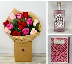 Valentines Be Mine Gin Gift Set: Booker Flowers and Gifts. #valentinesflowers #liverpoolflorist #flowersdelivered #flowerdelivery | Booker Flowers and Gifts Liverpool, Merseyside | Flower Delivery Liverpool - Same Day Delivery option | Florist Liverpool | Flower & Gift Shop Liverpool I Love You Balloons, Love Balloon, Gin Gifts, Pink Rose Bouquet, Valentines Flowers, Rose Gift, Flowers Delivered, Mini Roses, Romantic Flowers