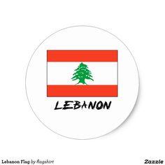Lebanon Flag Classic Round Sticker