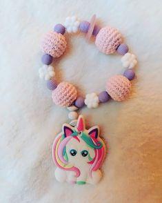 Einhorn mit Rosenquarz Crochet Necklace, Baby, Pink Quartz, Unicorn, Baby Humor, Infant, Babies, Babys